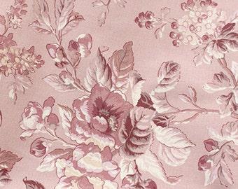 Bulgaria floral on Pink Oxford, U3047