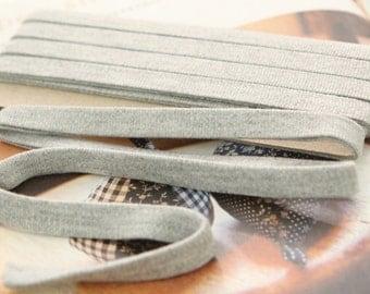 Thin Knit Double fold  Bias, GRAY, U3050