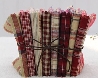 Lovely colored Checks on Cotton, Fat Eight set of 8, U3093