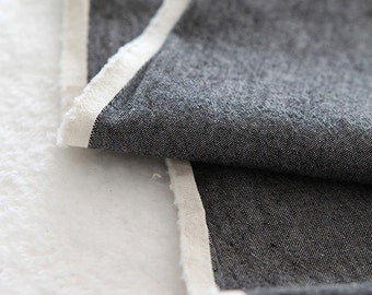 A Yard of Vintage Style BLACK Washing Cotton, U3125