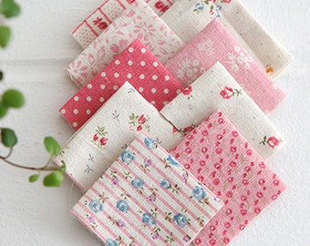 A Yard of lovely Patchwork style Linen in Pink, U3194