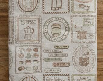 Brown Coffee Illus on linen, 3203