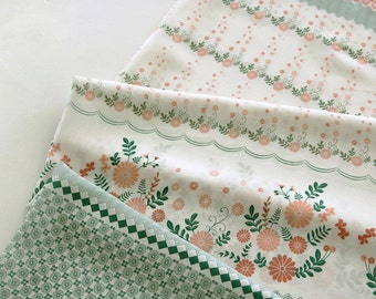 A Yard, Fresh Floral on Linen gauze, U3307