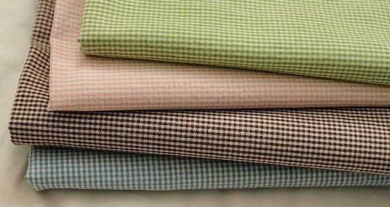 1mm Check Washing 4 colors Cotton, Fat Quarter Set of 4, U1339