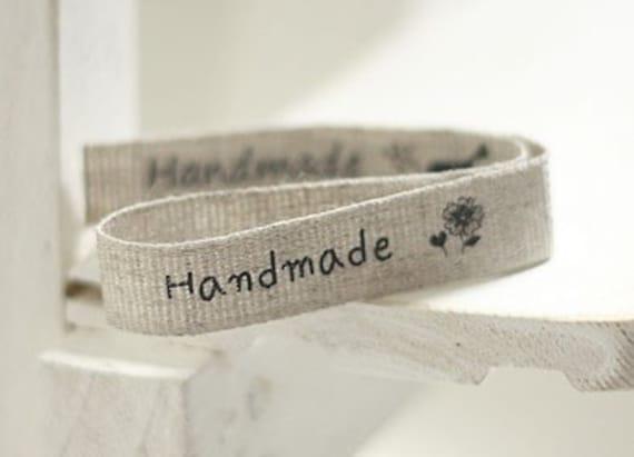 Vintage Linen HANDMADE Label