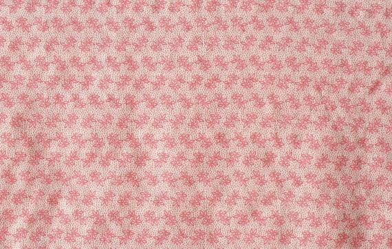Pink Floral Gauze Cotton WIDE 150cm
