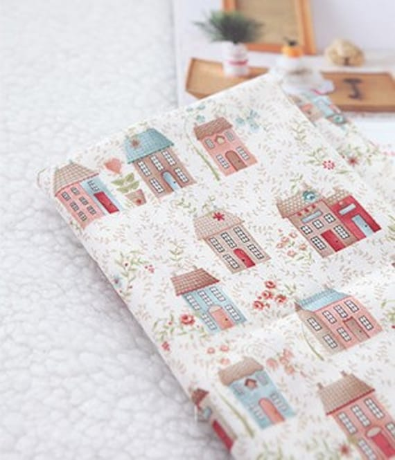 Fat Quarter, Country Houses on Cotton, U2154