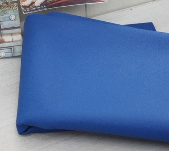Blue Faux Leather 140cm, U2216