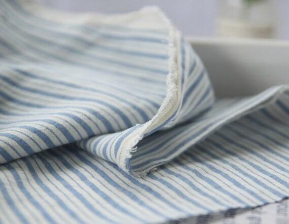 A Yard, BLUE STRIPE Washing Cotton, U2287
