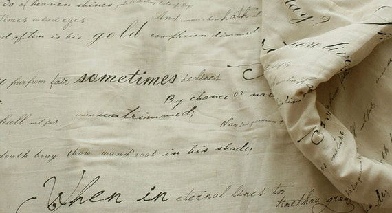 The Classic, A Yard of Shakespeares Sonnet on Linen gauze, U2732