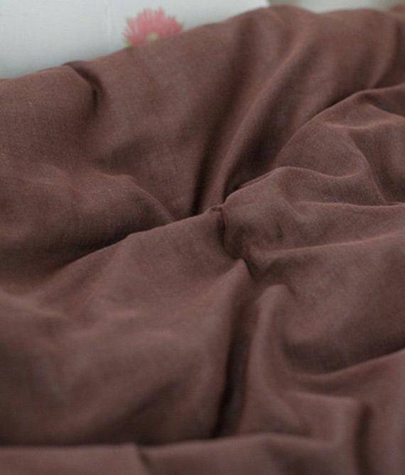 oen cut of  790cm of Lovely Color Gauze, Red Brown, U2841