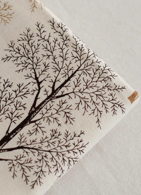 The Deserted BLACK Trees on Cotton WIDE 148cm, U2898