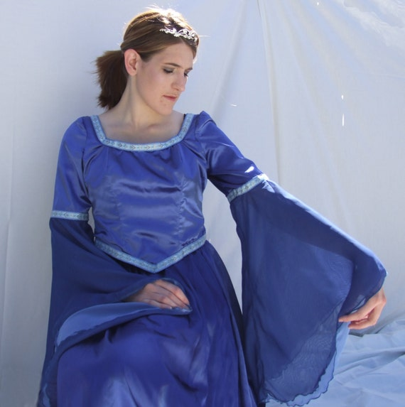 "Radiant Blue ""Lady of the Lake"" Bodice and Skirt"