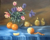 Still life Oranges and Tulips  original painting