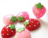 Pink Strawberry Adjustable Ring
