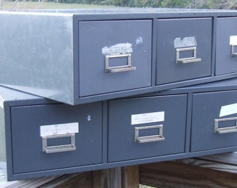 Metal File Drawers cubbies industrial shabby home furniture etsy