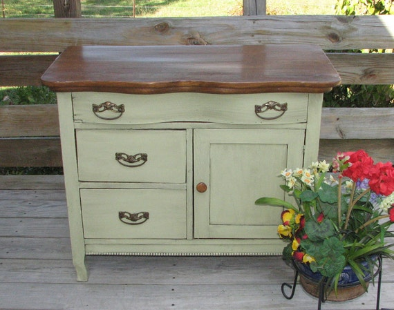 Upcycled Antique Oak Washstand Dry Sink Commode By Shabby Home