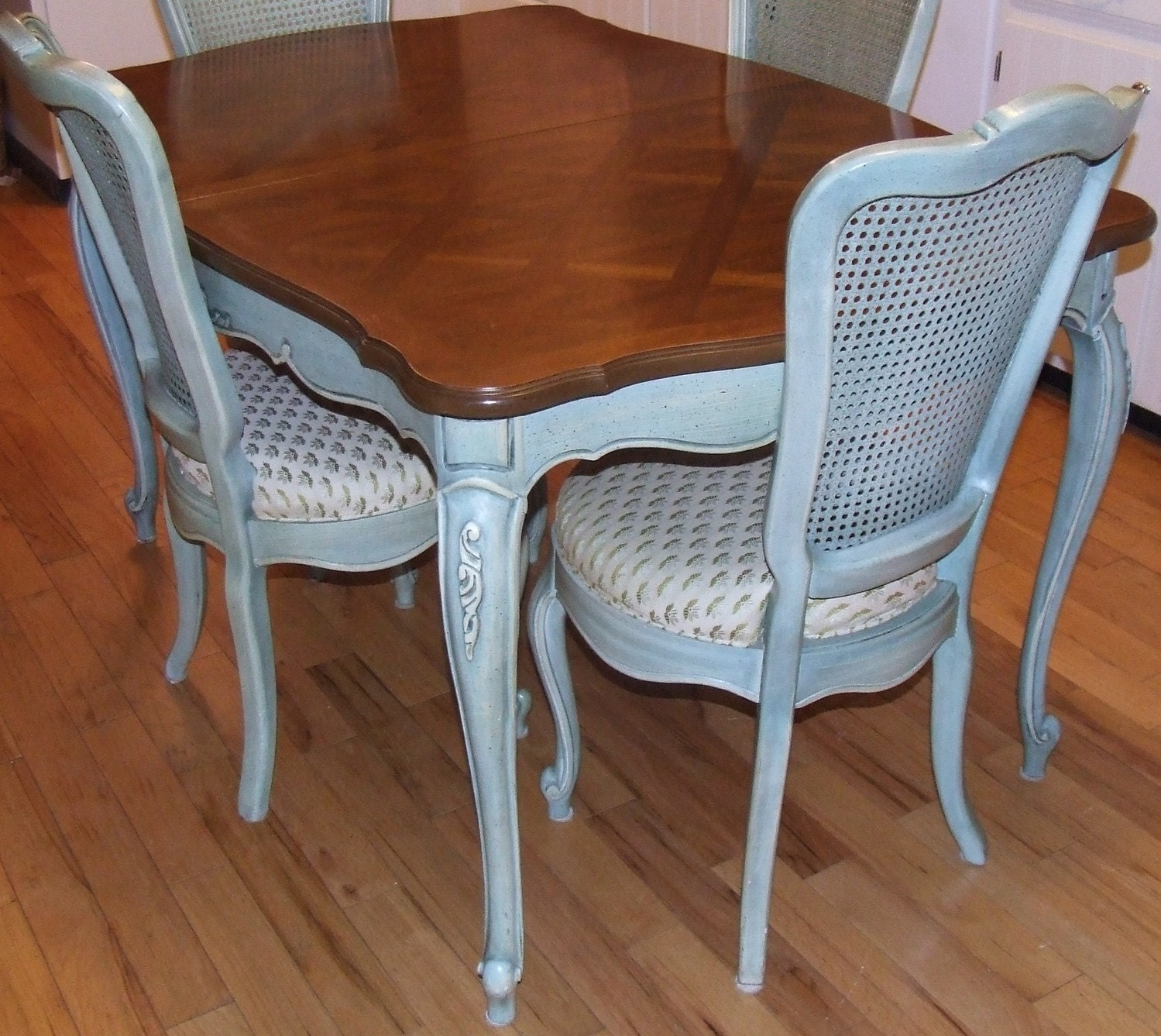 Vintage Thomasville French Blue DINING TABLE 2 leaves : ilfullxfull158773524 from www.etsy.com size 1499 x 1337 jpeg 406kB