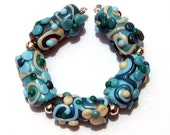 Spring Cleaning - 5 floral Lampwork Beads
