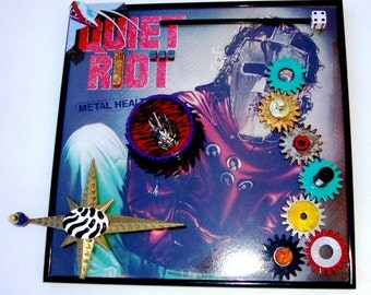 QUIET RIOT Metal Health Vinyl Lp 1983 Framed Record Album Enhanced 3D Cover Art, Randy Rhoads Steampunk Heavy Metal, Preserve, Play, Display