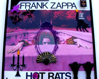 "FRANK ZAPPA ""Hot Rats"" Framed Vinyl Record 3D Art On Glass 1969 Gatefold Jazz Collectable Bizarre Label Mothers of Invention Purple Black"