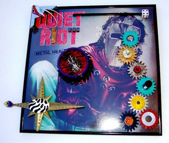 QUIET RIOT Metal Health Vinyl Lp 1983 Framed Record Album Enhanced 3D Cover Art, Randy Rhoads Steampunk Heavy Metal, Preserve, Play, Display
