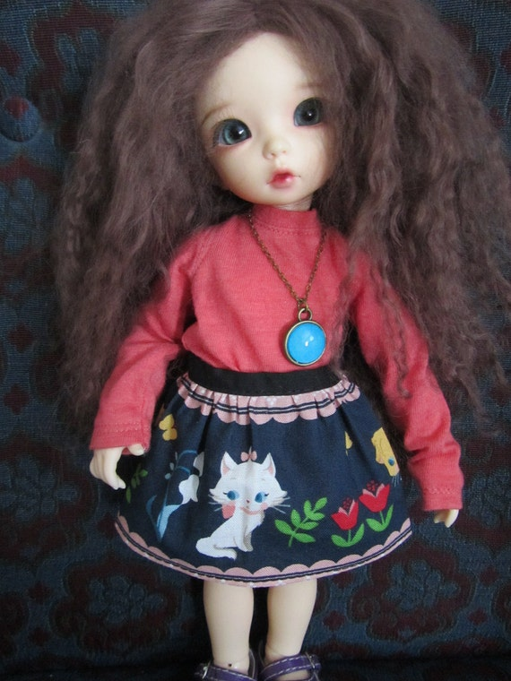 RESERVED listing for timkerbell1997 - Blue Aristocats skirt for Littlefee or doll same size bjd