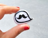 Movember mustache pin brooch