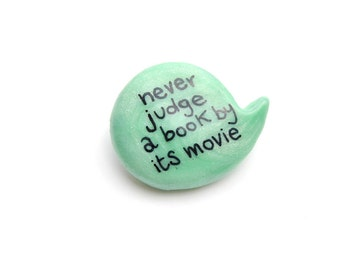 Polymer clay mint green pin
