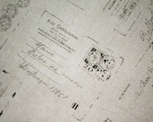 Postcard -Japanese cotton linen fabric -Half  Yard (130cm x 45cm)