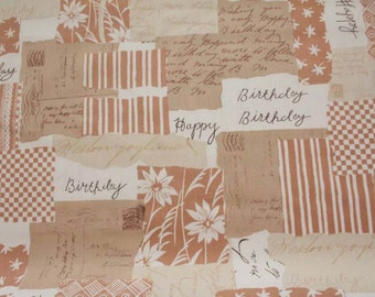 Japanese cotton fabaric-Happy Birthday-Half Yard