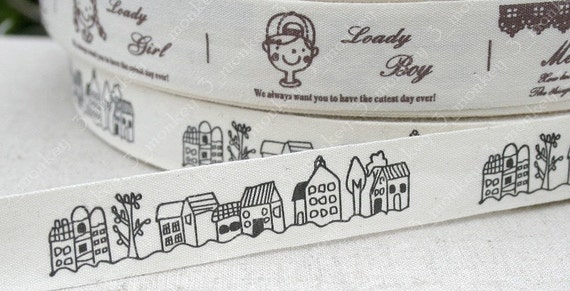 Ribbon / sewing tape - country house