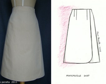PORTEFEUILLE SKIRT pattern.-