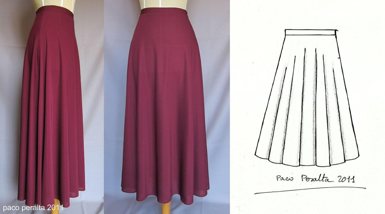 new half cirlre skirt pattern
