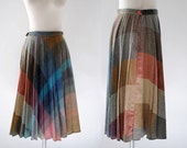 Vintage 1970s Wool Plaid Skirt