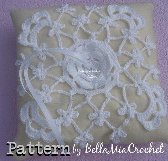 Items Similar To Crochet Irish Lace PATTERN For Wedding Ring Bearer Pillow On Etsy