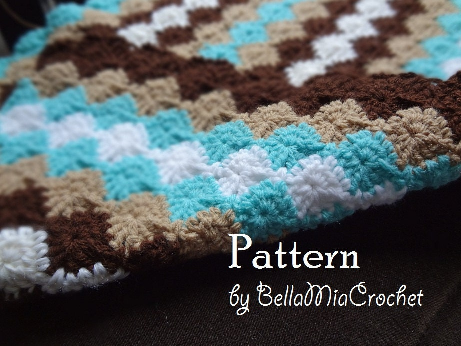 Crochet Baby Blanket Patterns On Etsy : Crochet Baby Blanket Pattern