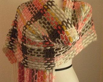 Crocheted Plaid Wrap
