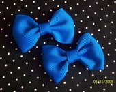 SALE//SALE// Stand out with these Electric Blue HairBow pairs -oh so pretty-