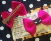 Emily Strange Hot Pink Kitty Bows