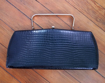Long Faux Gator Handbag