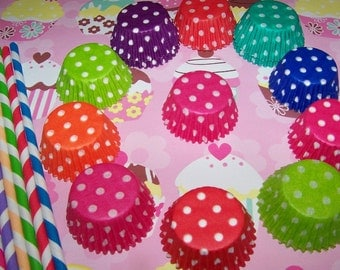 Cupcake Liners 3 Dozen Mini Cupcake Liners/Wrappers~You Pick Colors! Mix & Match Any Colors.