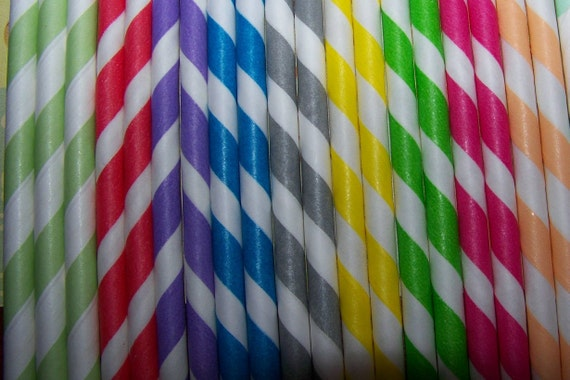 Paper Straws 16 Straws U-Pick Your Colors & Quantity  No Restrictions      Ships Fast Everywhere
