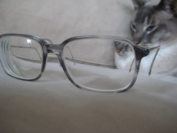 Marchon Eyeglasses Grey Fade Frames Made In Italy Vintage