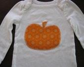 Fall pumpkin onesie or t-shirt