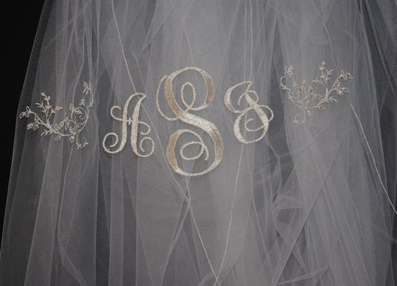 Swarovski Crystal monogrammed veil
