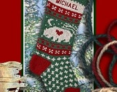 Classic Knitted Wool Christmas Stockings Bear