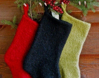 Felted Christmas Stocking Instant Download Knitting Pattern
