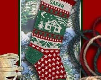Knit Christmas Stockings,LOG CABIN Personalized Christmas Stockings