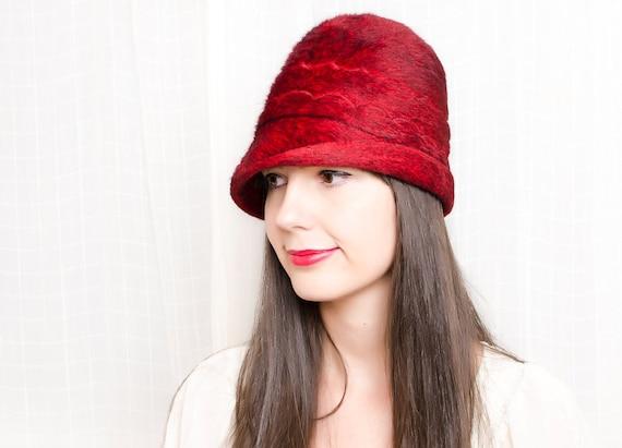 Vintage Red Hat - Austrian Fur Felt Tyrolean Hat